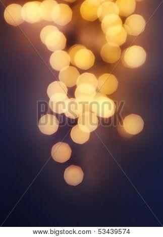 Dark Golden Abstract natural blur defocussed background with sparkles