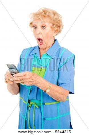 Senior Woman - Shocking Text