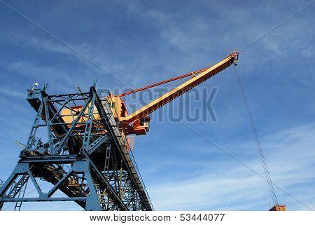 Crane on a rail