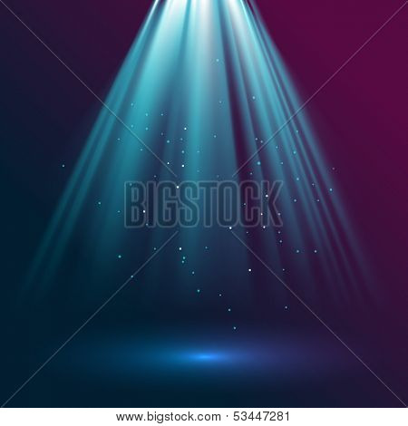 Rays of light, eps10 vector