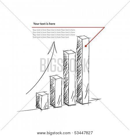 3d chart Hand drawn