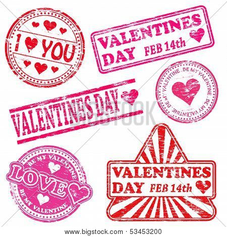 Valentines Day Rubber Stamps