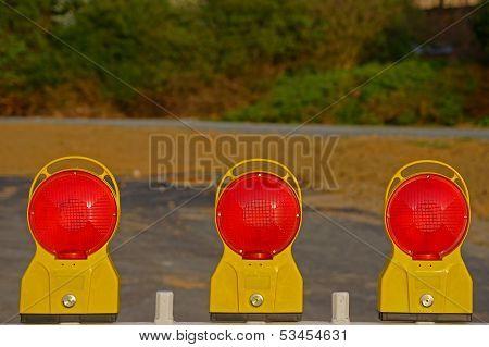 Construction site lamps