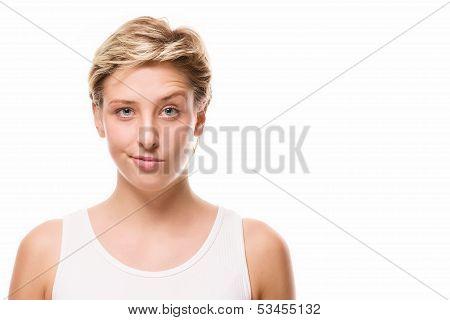 Woman Lifting Eyebrow