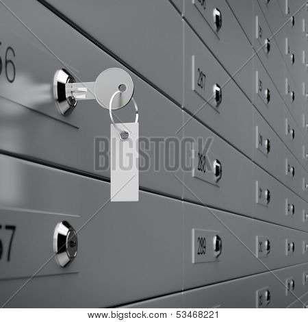 Deposit box with key