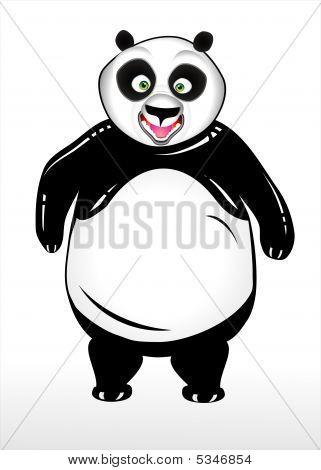 hohe detaillierte panda