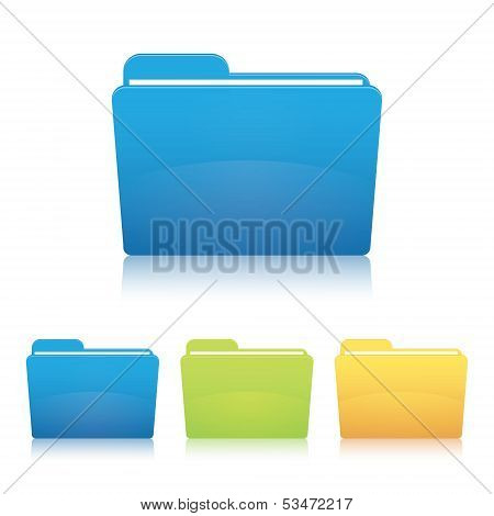 Folder. Vector illustration.
