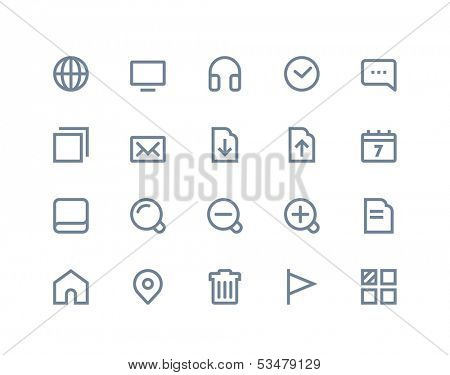 Web and internet icons. Line series