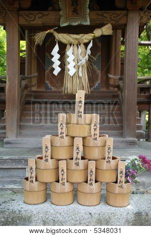 Water Buckets At Eikando Temple