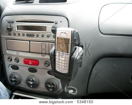 Interior Of Car With Mobile