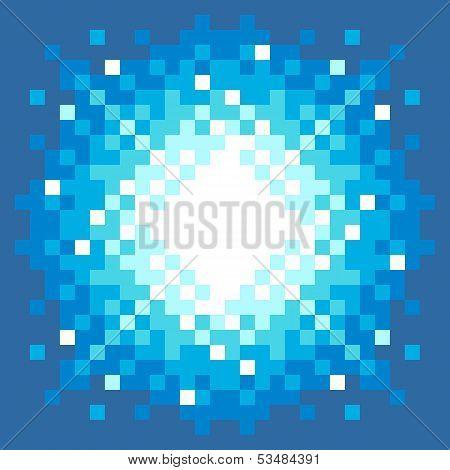 8-bit Pixel-art Explosion