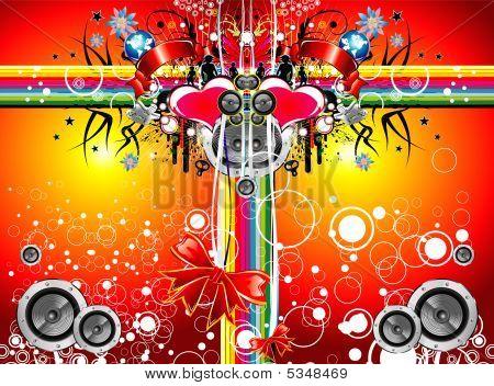 Music Emotions Christmas Background