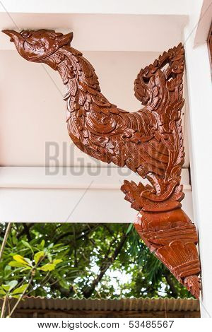 Swan Art For Decoration With Wood