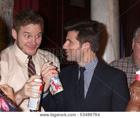 LOS ANGELES - OCT 16:  Chris Pratt, Adam Scott at the
