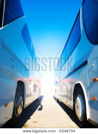 Two Tourist Buses