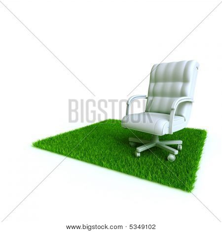 Armchair On A Lawn