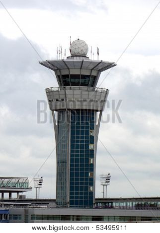 Air Traffic Control Tower at Orly Airport in Paris