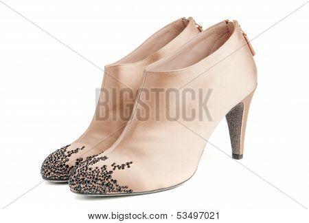 Beige Women Ankle Boots