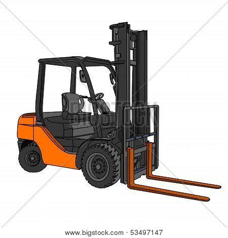 Forklift  Vector.eps