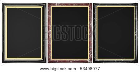 Black And Red Marble Plaque Collection