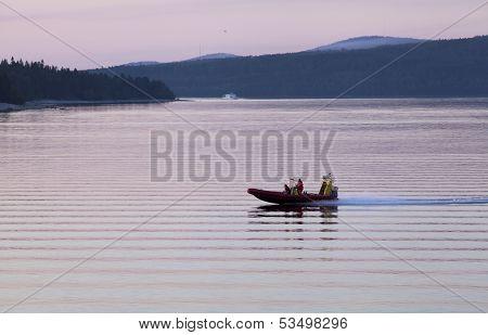 BALTIC SEA, GOLF OF BOTHNIA, SWEDEN - JULY 25 - 2013.