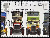 stamp shows Leyland X2 Open-top London General B Type Leyland Titan TD1 and AEC Regent 1