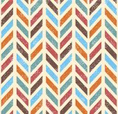 Seamless grunge vector chevron pattern.