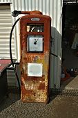 stock photo of bowser  - An old rusted vintage fuel bowser - JPG