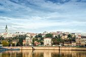 stock photo of serbia  - Belgrade City capitol of Serbia over the Sava river