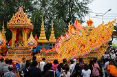 Songkhla, Thailand- October 20: Lak Phra And Tak Bat Devo Are Buddhist Festival Held Annually .the F