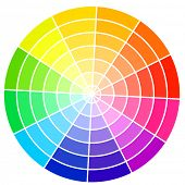 picture of pigments  - Standard color wheel isolated on white background vector illustration - JPG