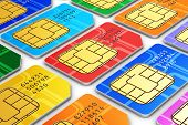picture of micro-sim  - Creative abstract mobile telecommunication wireless technology and mobility business concept - JPG