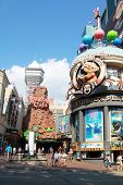 NIAGARA FALLS, CANADA- AUGUST 19, 2013:  Attraction on main street Clifton Hill, one of the major to