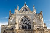 foto of church-of-england  - The grand Gothic style Cathedral at Exeter Devon England UK - JPG