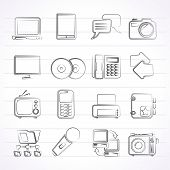 Communication and connection technology icons