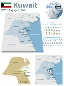picture of kuwait  - Kuwait maps with markers - JPG