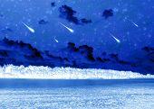 pic of meteoric rain  - fantastic landscape - JPG