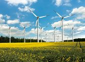 stock photo of turbines  - Eco power - JPG