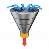 stock photo of upside  - Purchase funnel illustrating the customer journey towards the purchase - JPG