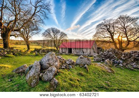 Old Red Roofed Barn
