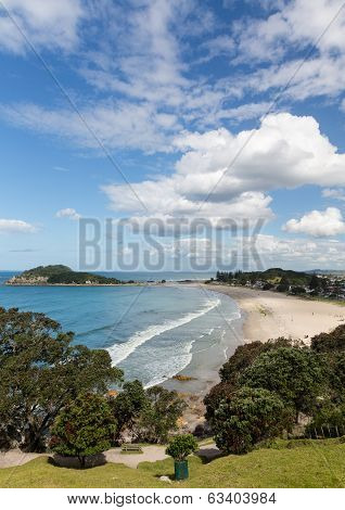 Hike Around The Mount At Tauranga In Nz