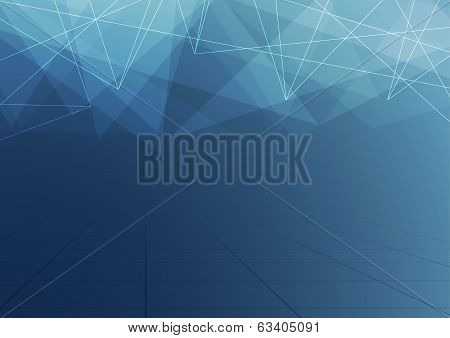 Abstract Crystal Dark Blue Structure Background