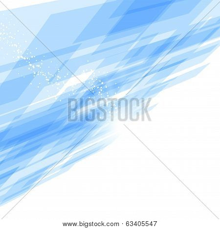 Bright Blue Tile Perspective Motion Background
