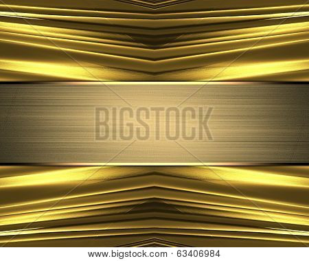 Abstract Gold Texture With Gold Nameplate