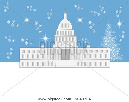 Washington Dc Holiday Scene