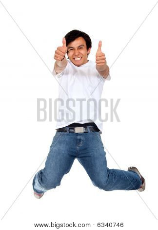 Excited Man Isolated