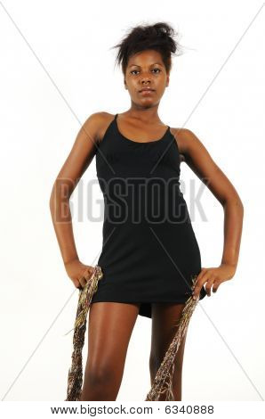 African American Girl Isolated