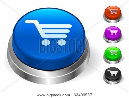 Shopping Cart Icons on Round Button Collection
