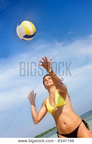 Beach Volleyball Girl