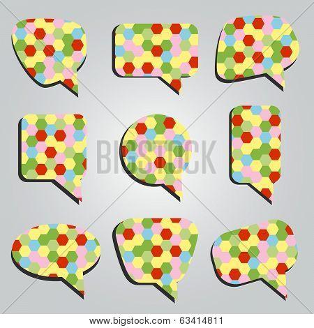 speak bubbles colorful eps10